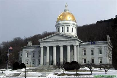 Capital Vermont Capitol Dome Montpelier State Mountain