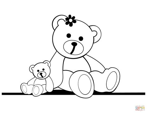 teddy bears coloring pages learny kids