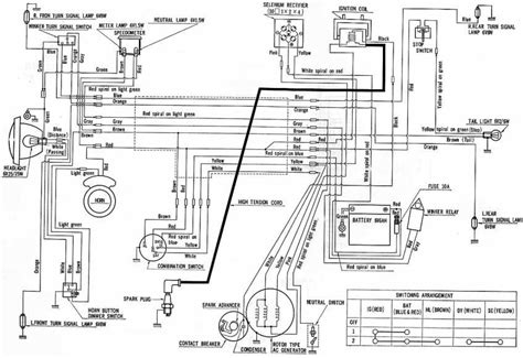 honda cd90 electrical wiring diagram circuit wiring diagrams