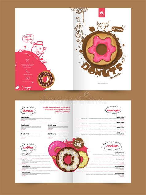 page brochure template  flyer  bakery stock