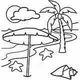 Coloring Pages Tropical Island Beach Printable Hawaiian Islands Drawing Sunset Vacation Lovely Simple Happy Holiday Clipart Colornimbus Beaches Fruit Under sketch template