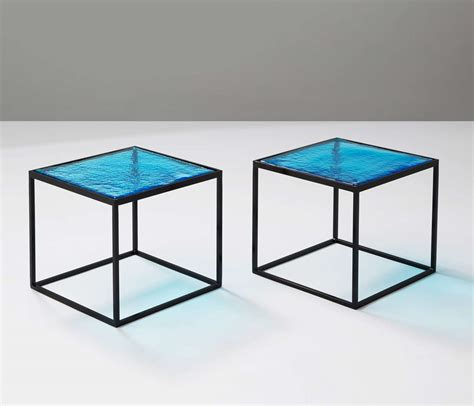 colored glass table ls multiple blue coloured glass side tables with metal quot box