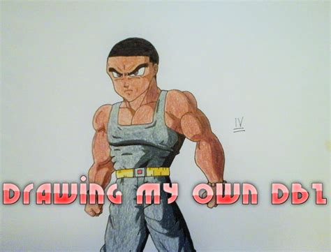 Speed Drawing My Own Dbz Character Youtube