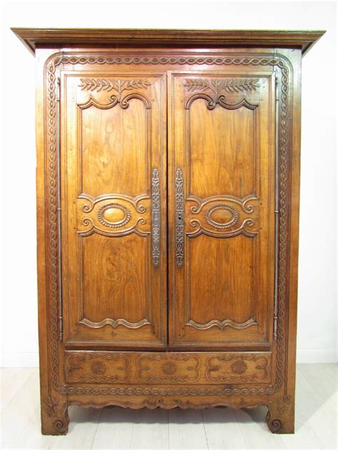 Antique Oak Armoire Wardrobe by A Beautiful Antique 18 Th C Carved Solid Light Oak Armoire