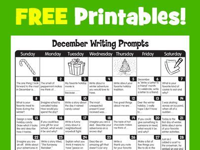 lakeshore learning writing prompts and december on