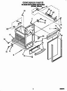 Kitchenaid Trash Compactor Container Parts