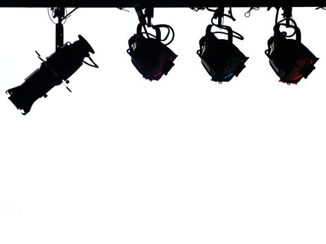 stage lighting in silhouette backgrounds presnetation