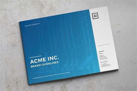 modern brand guide brochure templates  creative market