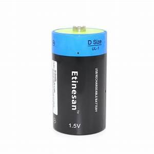 Batterie 1 5 Volt : etinesan li polymer 9000mwh d size rechargeable d ~ Jslefanu.com Haus und Dekorationen