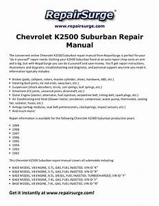 1999 Chevy Suburban Owners Guides