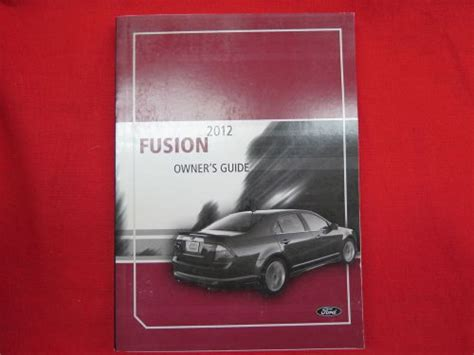 purchase  ford fusion owners manual guide book