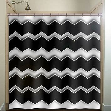 Black Chevron Bathroom Set by Any Color Chevron Shower Curtain Bathroom From