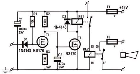 Car Alarm Sound Booster Circuits Projects