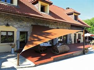 Toile En Triangle Pour Terrasse Bache D Ombrage Chromeleon