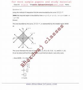 Cbse Class 12 Maths Ncert Solutions For Chapter 8 - Applications Of Integrals