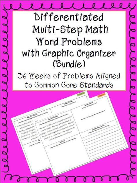 Math Word Problems For 4th Graders  Free Worksheets For Ratio Word4 Oa 3 Multi Step Word