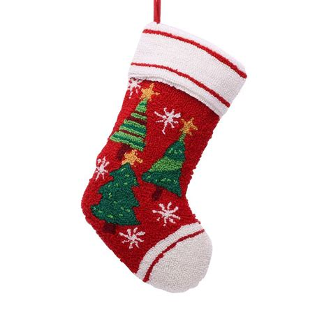 Glitzhome 19 in. Polyester/Acrylic Hooked Christmas