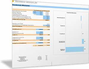 Personalkosten Berechnen Beispiel : stundensatz und personalkosten rechner excel tabelle business ~ Themetempest.com Abrechnung