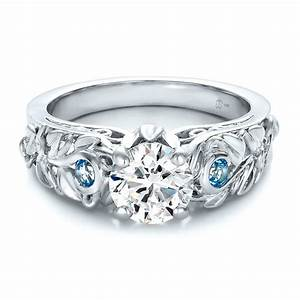 custom jewelry engagement rings bellevue seattle joseph With blue topaz wedding rings