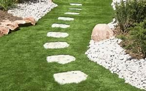 Comment Poser Des Dalles En Bois Sur Une Pelouse : poser des dalles dans son jardin ~ Dailycaller-alerts.com Idées de Décoration