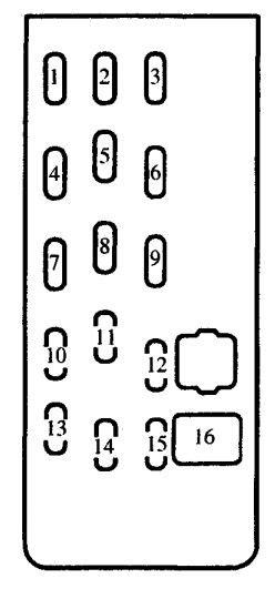 2000 Mazda Protege Fuse Box by Mazda Proteg 233 2000 2001 Fuse Box Diagram Auto Genius