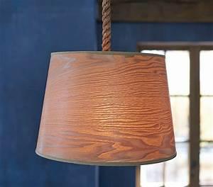 Wood veneer drum pendant pottery barn kids