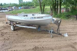 1958 15ft Alumacraft Boat On Trailer  With Images