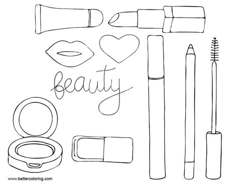 Coloring With Makeup by Makeup Coloring Pages Tools Free Printable Coloring Pages