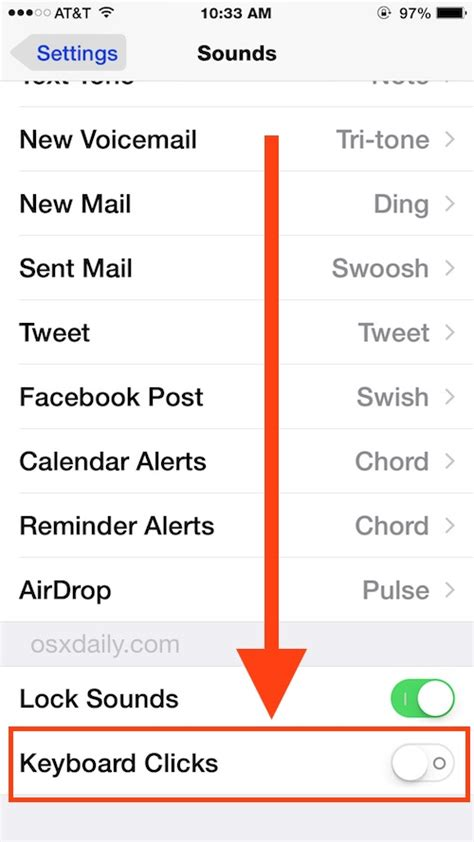 iphone sounds ios all in one how to turn keyboard click sounds on