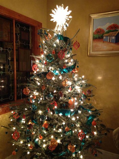 atmeri lang christmas tree  miami dolphins inspired