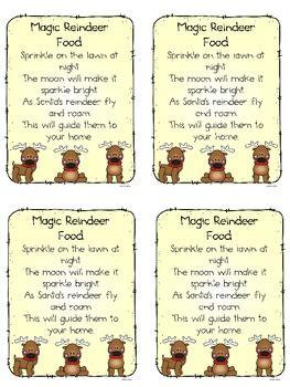christmas magic reindeer food freebie  dawn melvin tpt