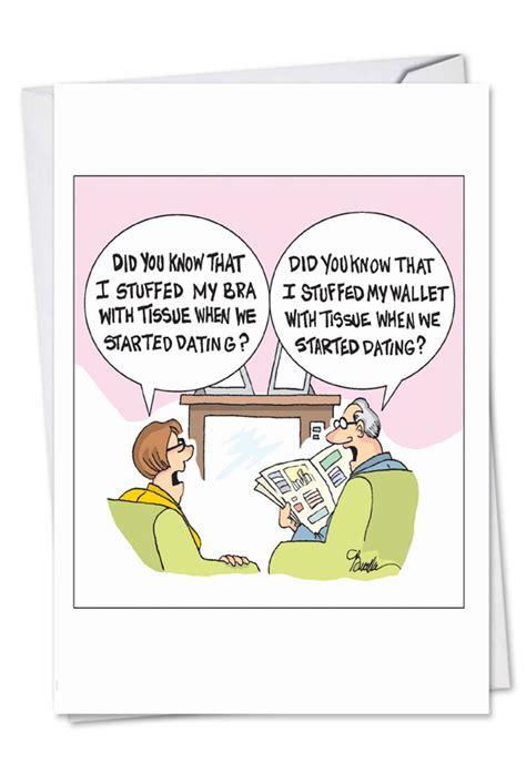 stuffed  dating cartoons anniversary card martin bucella
