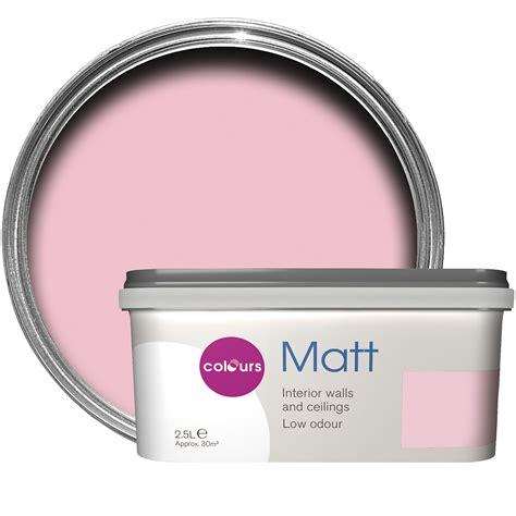 colours standard pink pink matt emulsion paint