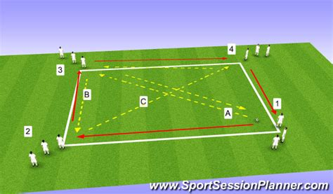 footballsoccer fun passing drill technical passing