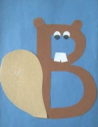9 beaver craft ideas and activities for preschoolers and 214 | Alphabetical Beaver Craft