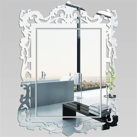 stickers miroir cuisine miroir plexiglass acrylique baroque pas cher