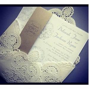 lovely lace cover wedding invitations tips to With lace cover wedding invitations