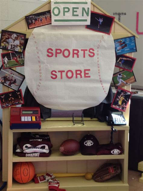 dramatic play area with a sporting goods theme 724 | 7342957242562d7d7ea7e768522a79ea