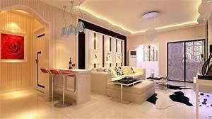 Modern living room lighting wall interior 3d design for Lighting design for living room