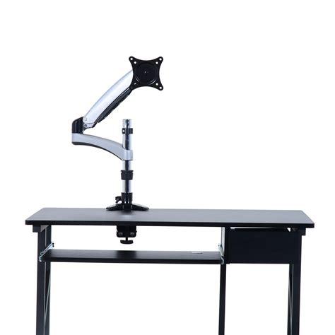 computer monitor desk mount homcom 15 27 single lcd monitor desk mount stand gray