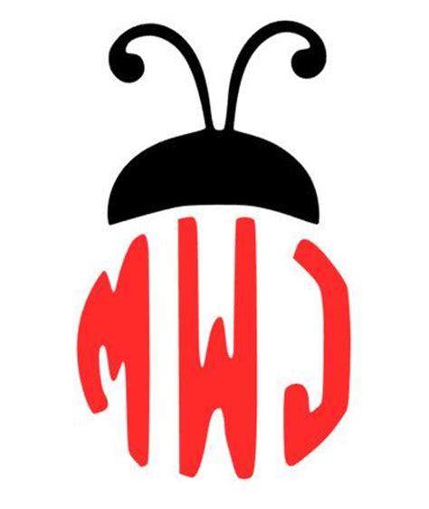 lady bug ladybug monogram decal names monogram decal  cars
