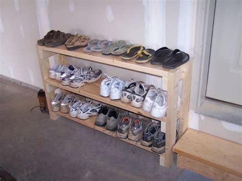 Shoe Rack Garage by Shoe Rack In Garage Idea Maybe El Hubs Can Make It