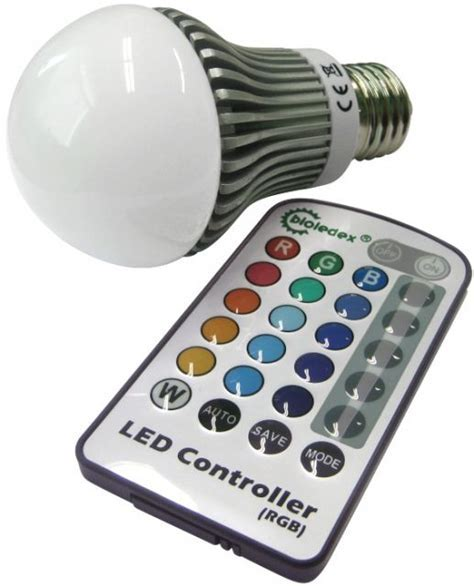 dimmbare RGB LED Lampe 5W E27   Farbwechsel LED Birne