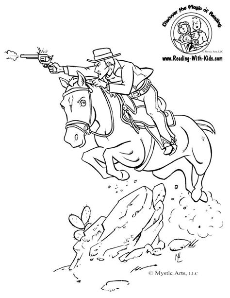 Cowboy Pictures To Color by Printable Cowboy Coloring Pages Coloring Home