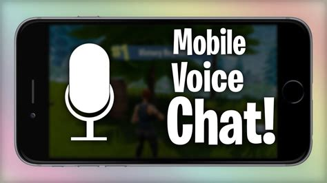 voice chat  fortnite mobile youtube