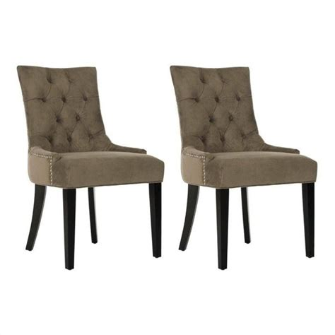 safavieh birch kd dining chair in mole grey set of