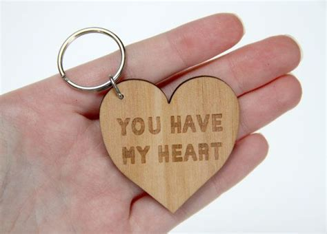 You Have My Heart Laser Cut Wooden Keyring