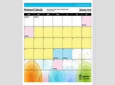 7+ Homework Calendar Templates – Free Sample, Example