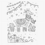 Llama Coloring Festival Unicorn sketch template