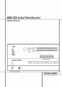 Harman Kardon Avr 235 Users Manual 22199 Avr235 Eng